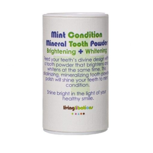 Living Libations - Mint Condition Mineral Tooth Powder Brightening + Whitening 2