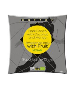 Zotter - Squaring The Circle - 1 Dark Choco with Coconut & Mango, sweetend only with fruit
