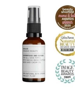 Evolve Organic Beauty 1 superfood 360 natural face serum
