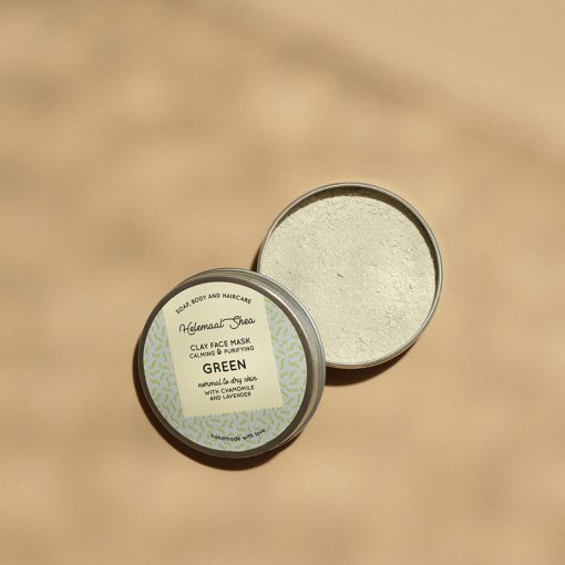 Clay Face Mask - Green2- Helemaal Shea