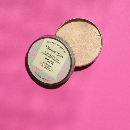 Clay Face Mask - Rose2-Helemaalshea